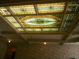 Beautiful stain-glass ceiling